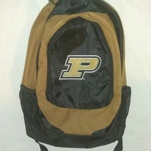 Purdue Boilermakers Backpack Stylish Old Gold NCAA